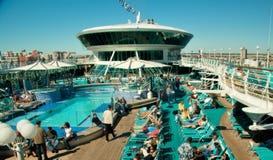 Bovenkant van het Schip van de Cruise Stock Afbeeldingen