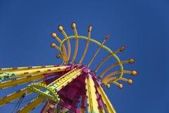 Bovenkant van kleurrijke Carnaval rit stock afbeelding