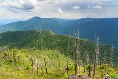 Bovenkant van Kokuya-Berg Altairepubliek Rusland Stock Afbeeldingen