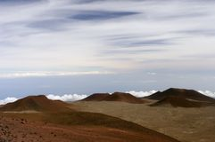 Bovenkant van Mauna Kea Hawaï Stock Foto's