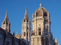 Bovenkant van Mosteiro Dos Jeronimus royalty-vrije stock foto's