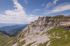Bovenkant van Mt. Pilatus Royalty-vrije Stock Fotografie