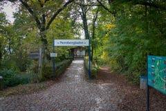 Bovenkant van Nerobergbahn in Wiesbaden, Duitsland royalty-vrije stock foto's
