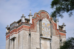 Bovenkant van oude militaire watchtower in Zuidelijk China Royalty-vrije Stock Afbeeldingen