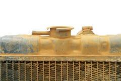 Bovenkant van oude tractorradiator stock foto