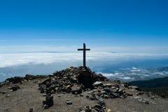 Bovenkant van Pico de la Nieve-berg, het eiland van La Palma Royalty-vrije Stock Afbeelding