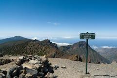 Bovenkant van Pico de la Nieve-berg, het eiland van La Palma Royalty-vrije Stock Fotografie