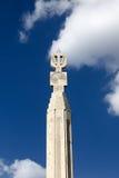 Bovenkant van pijler bij cascade in Yerevan Stock Foto's