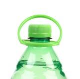 Bovenkant van plastic fles met water. Royalty-vrije Stock Foto's