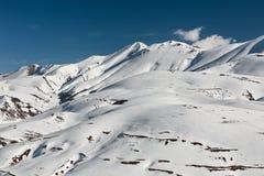 Bovenkant van Redentore in de Sibillini-Bergen stock foto