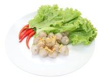 Bovenkant van tapiocaballen met varkensvlees het vullen Stock Fotografie