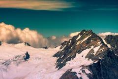 Bovenkant van Zuidelijke Alpen in Nieuw Zeeland Stock Foto