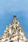 Bovenkant van zuidentoren van de Kathedraal van StStephan, Wenen, Oostenrijk Royalty-vrije Stock Foto's