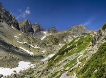 Bovenkanten van Hoge Bergen Tatras in Slowakije Stock Afbeeldingen