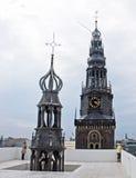 Bovenop de Oude Kerk Stock Afbeeldingen