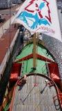 Bovenop een oud schip Stock Afbeeldingen