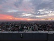 Bovenop Phnom Penn Stock Fotografie