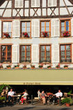 Bovenrijn, de schilderachtige stad van Ribeauville in de Elzas Stock Foto