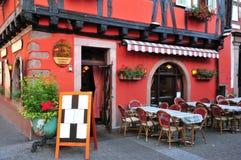 Bovenrijn, de schilderachtige stad van Ribeauville in de Elzas Stock Afbeelding