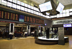 Bovespa. 2 of august 2011 The Bovespa stock index fell to the lowest in almost two years Stock Photo