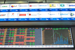 Bovespa. Sao Paulo, Brazil, March 14, 2016. Bovespa Stock Brokers Trading in Sao Paulo, Brazil royalty free stock image