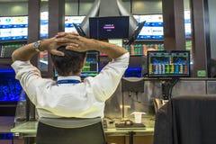 Bovespa. Sao Paulo, Brazil, March 14, 2016. Bovespa Stock Brokers Trading in Sao Paulo, Brazil stock photo