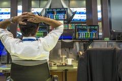 Bovespa. Sao Paulo, Brazil, March 14, 2016. Bovespa Stock Brokers Trading in Sao Paulo, Brazil stock images
