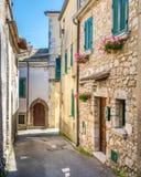 Boville Ernica an einem sonnigen Nachmittag, Provinz von Frosinone, Lazio, Italien stockbilder