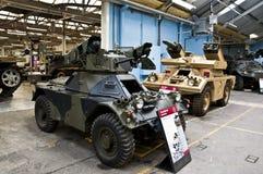BOVINGTON, АНГЛИЯ -12 март 2013 - установленный в 1947, музей танка в Bovington, Дорсете, показывает собрание armored смоквы Стоковое Изображение RF