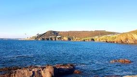 Bovisands fort on the southwest coast path , Devon, Uk stock images