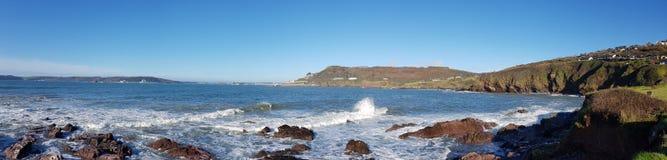 Bovisands panoramiczna Południowa Zachodnia Nabrzeżna ścieżka, Devon uk Zdjęcie Royalty Free