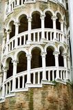 Bovolo. Scala Contarini del Bovolo an antique tower with stairs very similar to the Pisa tower hidden in a small Campiello of Venice unknown to the most part of stock image