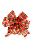 Bow. Beautiful color holiday bow on white background Royalty Free Stock Images