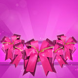 Bow. Pink bow with clipping path Royalty Free Stock Images