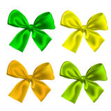 Bow. Set of four ribbon Bow ties isolated Stock Image
