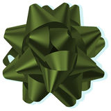 Bow. A green silk vector bow Royalty Free Stock Images