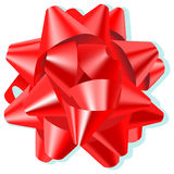 Bow. A red silk vector bow Stock Image