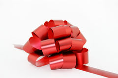 Bow. Red bow on white with soft shadow Royalty Free Stock Photography