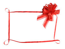 Bow. Red bow on a white background Stock Photos