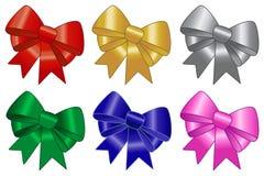 Bow And Ribbon Set Stock Photography
