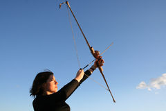 Bow and arrow Royalty Free Stock Photography