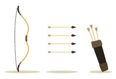 Bow arrow and case vector illustration