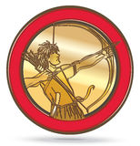 Bow and Arrow Circle Royalty Free Stock Photo