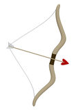 Bow and arrow, cupid Stock Photography