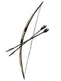 Bow and arrow Stock Image