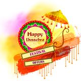 Bow and Arrow on Happy Dussehra shopping sale offer Royalty Free Stock Photo
