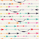 Bow and arrow indian boho seamless pattern hipster Royalty Free Stock Image