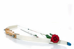 Bow, arrow and the rose Royalty Free Stock Photography