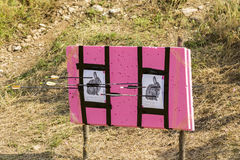 Bow and arrow shooting contest Stock Image
