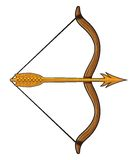 Bow and arrow Royalty Free Stock Image